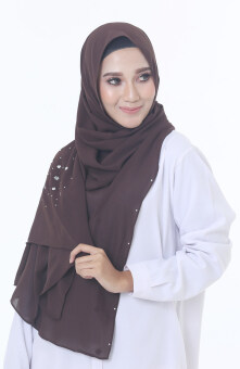 Harga Hijab Fesyen Rindu Long Shawl Brown
