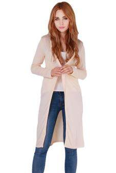 Harga Hang-Qiao Sexy Long Outwear Cardigan Long Coat Knitwear Beige