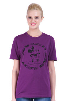Harga Disney Mickey MIC-MT-9617/Purple Unisex Short Sleeve T-shirt