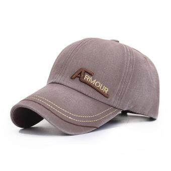 Harga New baseball cap men and women cotton retro hat sports hat(Brown)