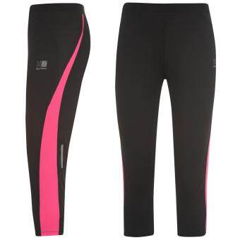 Harga Karrimor Womens Run Capri Tights Ladies Training Jogging Sport Activewear Black/