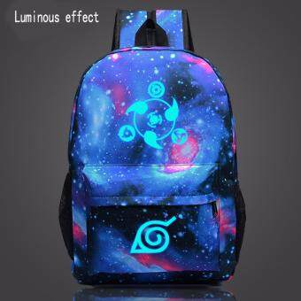 Harga Naruto write round eyes Noctilucent backpack schoolbag
