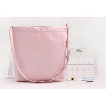 Harga NiCol Korean Style Large Capacity Canvas Bag (Pink) (Bag Appear in Drama - Descendants of the Sun)
