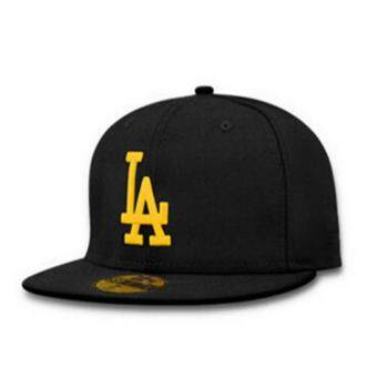 Harga Female male LA flat along the hat hip-hop baseball cap spring summer(Black yellow)