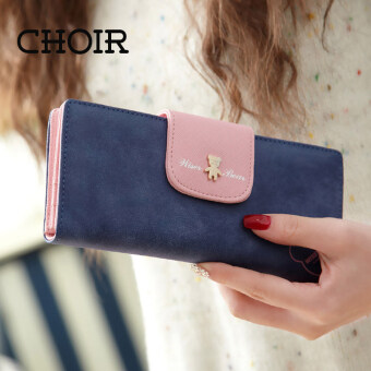 Harga Choir Brand New Lovely Bear Wallet Female Leather Long Change Clasp Purse Money Card Coin Holder Carteras Girls wallets Purses