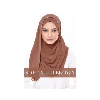 Harga naelofar hijab duchess - soft age brown