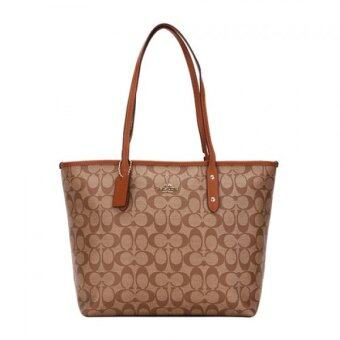 Harga Coach 36876-imbdx signature city zip tote