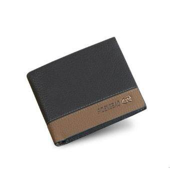 Harga Hot Sales Characteristic Lichee Pattern Soft Leather S-wallet for Men Thin Leisure Money Clips(Black)