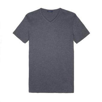 Harga F.O.S NAVY & NAVY MEN BASIC DARK MELANGE V-NECK TEE