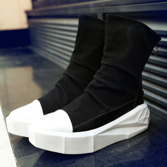 Harga Fear Of God Military Boots 1:1 Justin Bieber Boots FOG Shoes Top Quality Genuine Leather Boot Men Casual Botas (White)