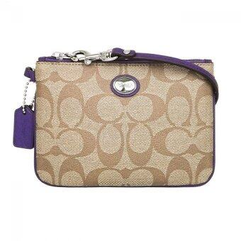 Harga Coach 50142 Peyton Signature Small Wristlet (Purple)