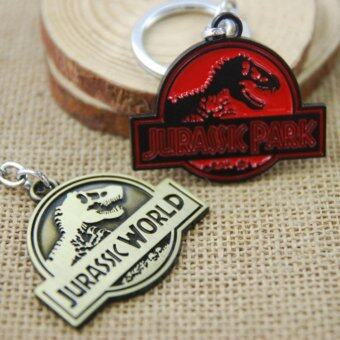 Harga 2pcs Movie Key Chain Jurassic Park Keychain Men Gift Key Chain Key Holder(OVERSEAS)