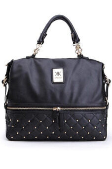 Harga Kim Kardashian Kollection Large Semi Quilted Stud Grip Bag