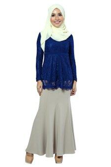 Harga Zolace Ethereal Blouse Muslimah (Blue)