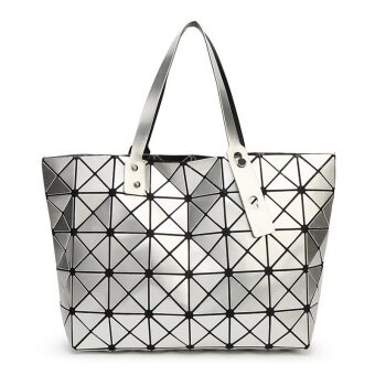Harga Women handbag large bag Miyake geometric Quilted CD package(silver)