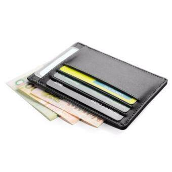 Harga Money Clip Front Pocket Wallet, RFID Blocking Leather Slim Wallet, Genuine Leather RFID Blocking, Black