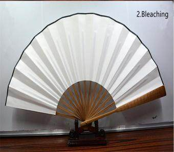 Harga 2pcs Wholesale High Quality DIY Painting Chinese Blank Men Folding Xuan Paper Fan Calligraphy Creation Fan 10-inch