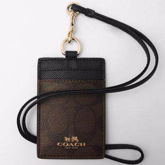 Harga Coach F63274 Signature Brown Black Lanyard