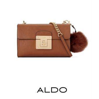 Harga AUTHENTIC ALDO CHAIN CROSS BODY BAG (BROWN)