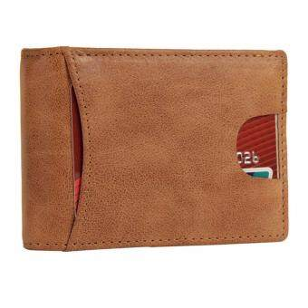 Harga Boshiho RFID Blocking Bifold Wallet Credit Card Holder Money Clip Wallet(Brown)