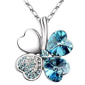 Harga LOVENGIFTS Swarovski Lucky Pendant Necklace (Blue)