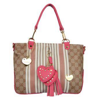 Harga ORIGINAL TRACEY STAR HOT SALES LOVE HANDBAG (TS8602-04)BROWN