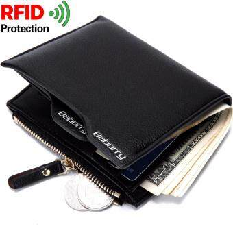 Harga Baellerry RFID Theft Protec Coin Bag zipper men wallets famous brand mens wallet male money purses Wallets New Design Top Men Wallet