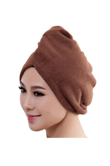 Harga Microfiber Bath Towel Hair Dry Hat (Coffee)