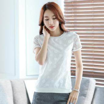 Harga JYS Fashion Short sleeve Tops (White)