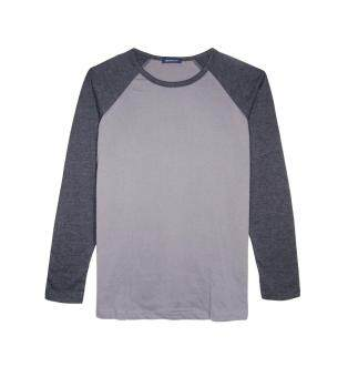 Harga F.O.S NAVY & NAVY MEN'S BASIC GREY RAGLAN LONG SLEEVED TEE