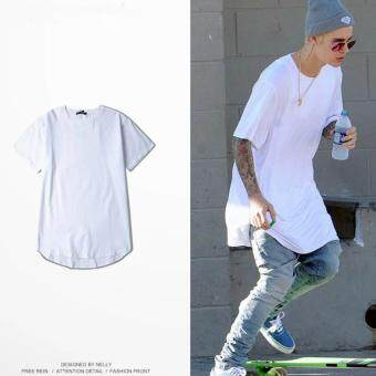 Harga Justin Bieber Men's Fashion White T-shirt Summer Hot sale!