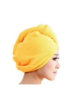 Harga Microfiber Bath Towel Hair Dry Hat (Yellow)