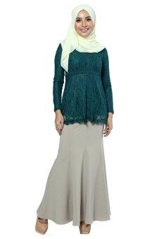 Harga Zolace Ethereal Blouse Muslimah (Green)