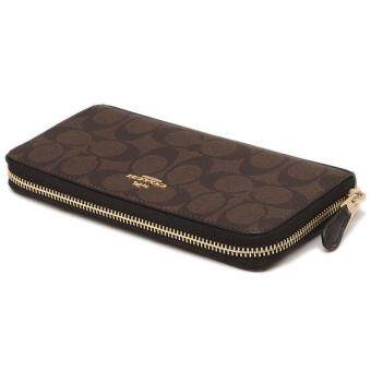 Harga Coach F54632 Long Wallet Signature Brown