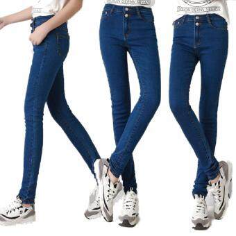 Harga 219 Korean Style Women's Clothing Skinny Fit Jeans Highwaist Jeans High Waist Jeans Cotton Jeans