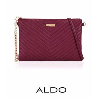 Harga AUTHENTIC ALDO QUILTED 2-WAYS BAG (BURGUNDY)