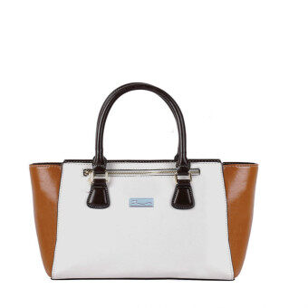 Harga Alfio Raldo Duo Tone Top-Handle Tote Bag (White)