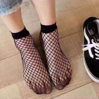 Harga Sexy Fishnet Stockings short tube mesh short stockings lady