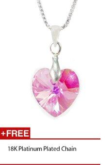 Harga CELOVIS made with Swarovski Crystal Heart Pendant (M-Series Rose)