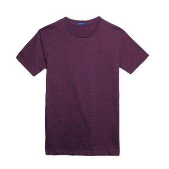 Harga F.O.S NAVY & NAVY MENS BASIC MELANGE PURPLE TEE