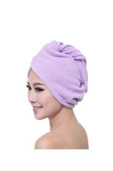 Harga Microfiber Bath Towel Hair Dry Hat (Purple)