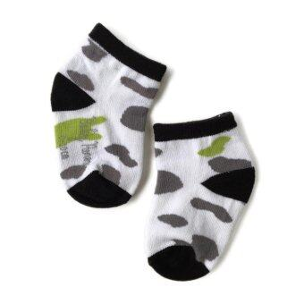 Harga BABY PONEY LITTLE COW PRINT SOCKS (WHITE)