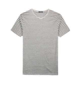 Harga F.O.S NAVY & NAVY MEN BASIC LIGHT MELANGE STRIPED TEE