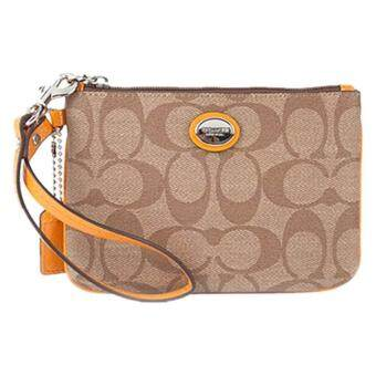 Harga Coach F50142 Peyton Signature Small Wristlet Purses (Yellow)