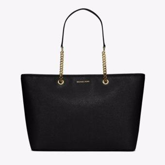Harga Michael Kors Jet Set Travel Chain Top Zip Multi Functional Tote (Black)