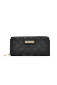 Harga Kardashian Kollection Quilted Zip Wallet Purse (Black)