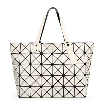 Harga Women handbag large bag Miyake geometric Quilted CD package(white)