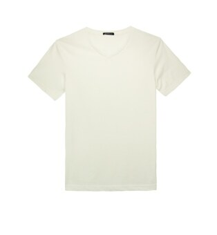 Harga F.O.S NAVY & NAVY MEN BASIC OFF WHITE V NECK TEE