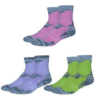 Harga 3Pair Women Lady Winter Outdoor Sports Feet Warmer Comfortable Breathable Socks for Hiking Camping Mmountain Biking Travel Trekking Athletic Activities