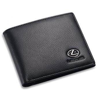 Harga Lexus Bifold Wallet with 3 Credit Card Slots and ID Window - Genuine Leather